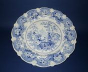 Pountney and Allies of Bristol 'Chinese Fountains' Dinner Plate c1830